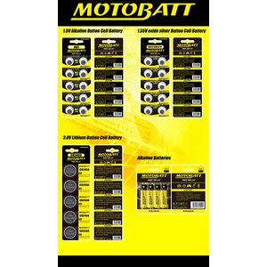 MotoBatt CR2016 3.0V Lithium battery (5pcs)