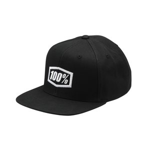100% ESSENTIAL Snapback Hat, ADULT, BLACK