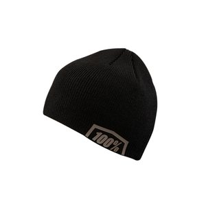 100% ESSENTIAL Beanie, ADULT, BLACK GREY