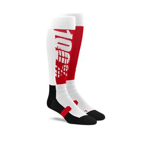 100% HI SIDE Performance Moto Socks, ADULT, L XL, BLACK RED