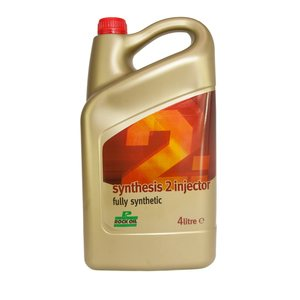 Rock Oil Synthesis 2 Injector, fully synthetic 2-Stroke Racing oil, 4-L