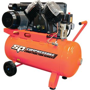 SP Tools 2.2hp Cast Iron V-Twin Portable Air Compressor