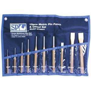 SP Tools 10pc Pin Punch & Chisel Set