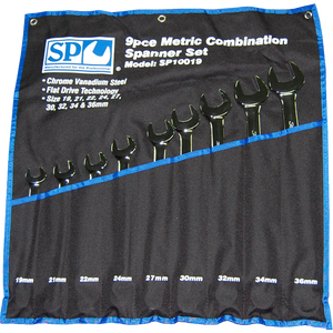 SP Tools 9pc Metric Jumbo Combination Wrench/Spanner Set