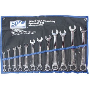 SP Tools 12pc SAE 0° Offset Geardrive Spanner Set