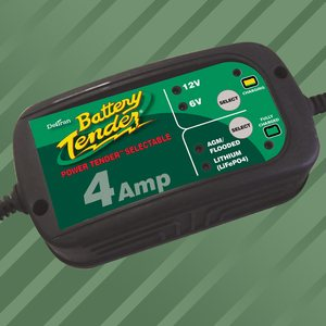 Battery Tender Power Tender 6V/12V 4 A lyijy/Lithium Akkulaturi