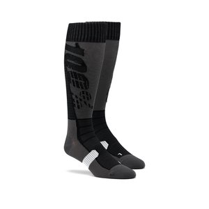 100% HI SIDE Performance Moto Socks, ADULT, L XL, BLACK GREY