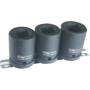 SP Tools SOCKET RAIL IMPACT 3/4DR DOUBLE SQ 3PC METRIC